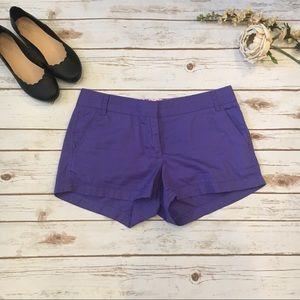 J. Crew purple chino shorts size: 8